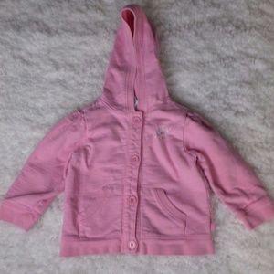 Old Navy Newborn Button Down Pink Jacket 6-12M